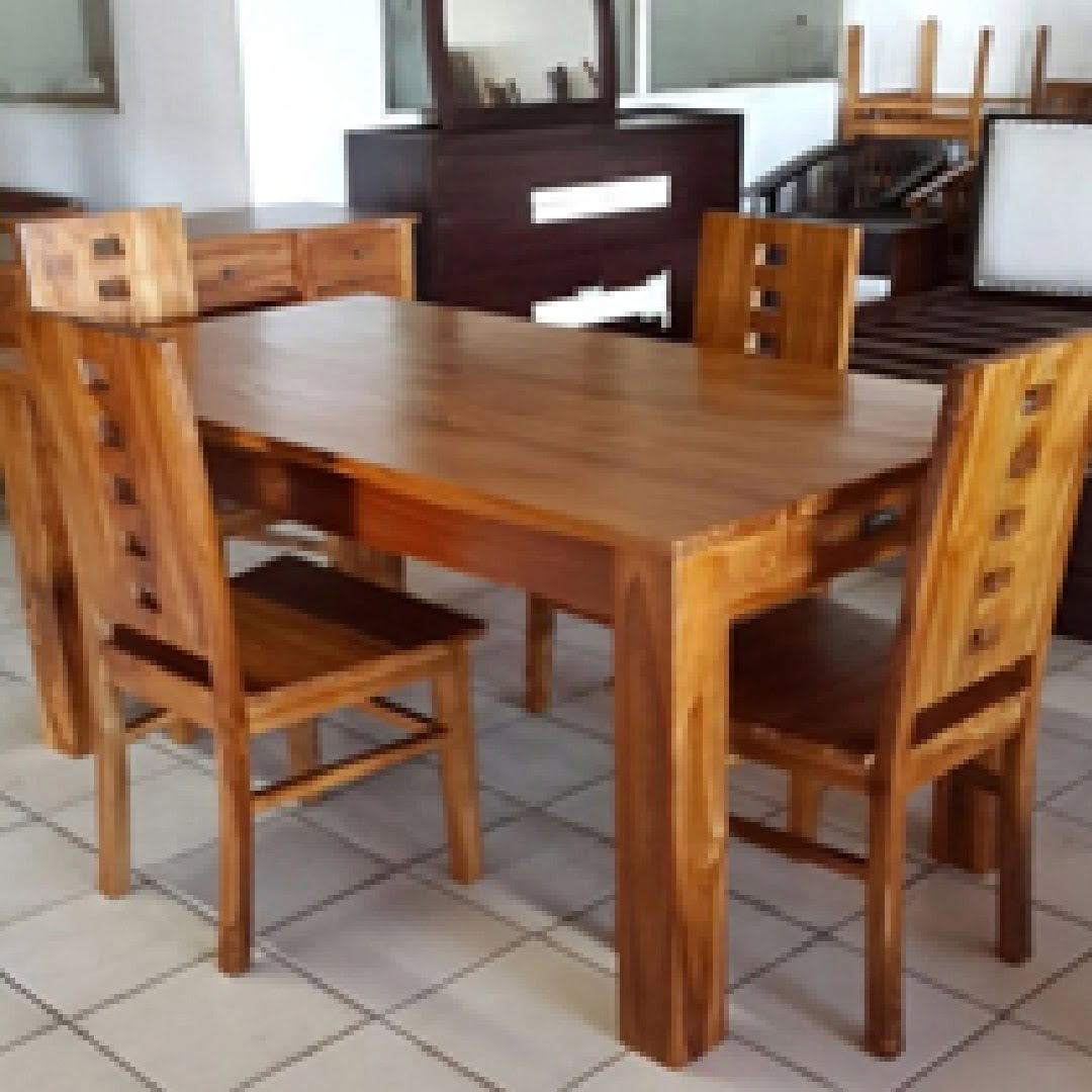 Dining table with drawer,160 x 90 x 77 cm | Indonesian Wood